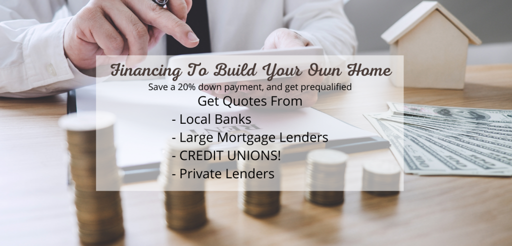 calculating cost to build home and get loan from lenders