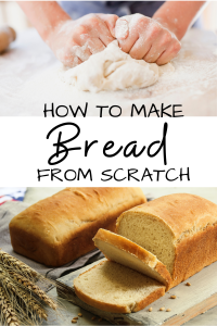 dough being kneaded and bread