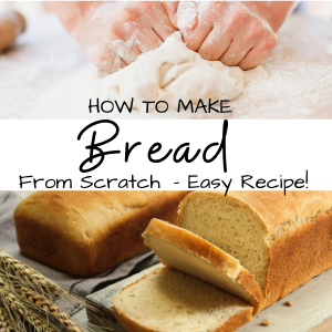 bread sliced and dough with text how to make bread