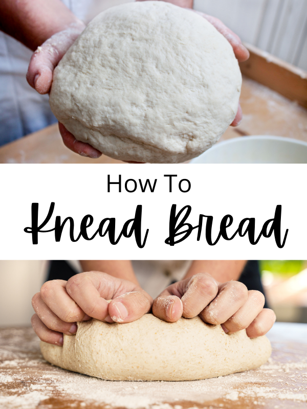 dough in hands and hands kneading dough