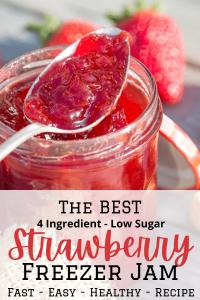 strawberry jam in jar