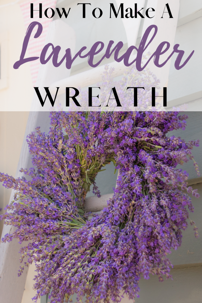 lavender wreath with text
