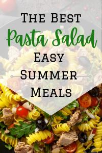 pasta salad and text