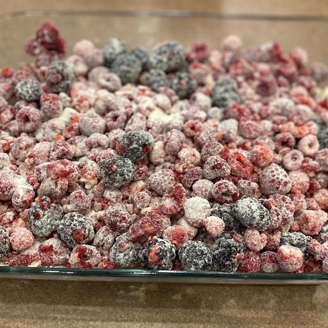 berries dusted in flour