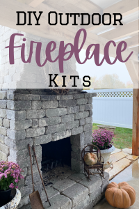outdoor fireplace with text