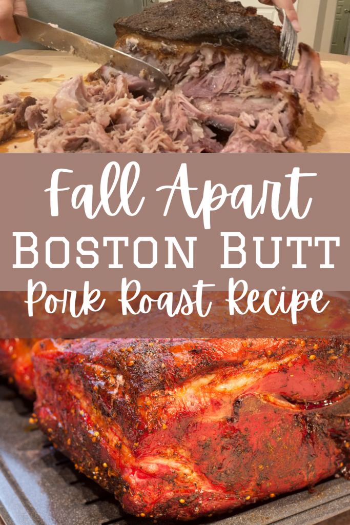boston butt roast with text