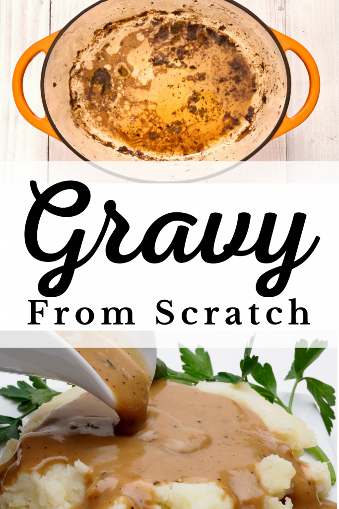 gravy from scratch on mashed potatoes