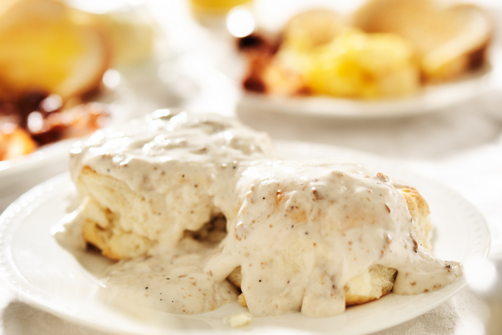 country gravy on biscuits
